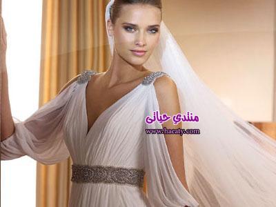 فساتين زفاف حلوة مره 2014 – صور فساتين زفاف محجبات كيوت 2015