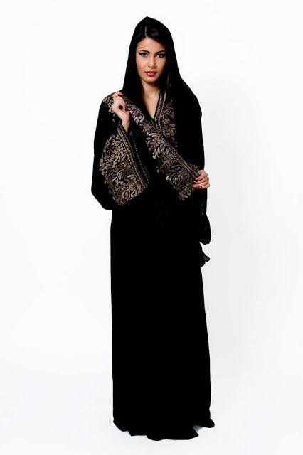 صور عبايات سوداء -Dubai Abaya Designs2014