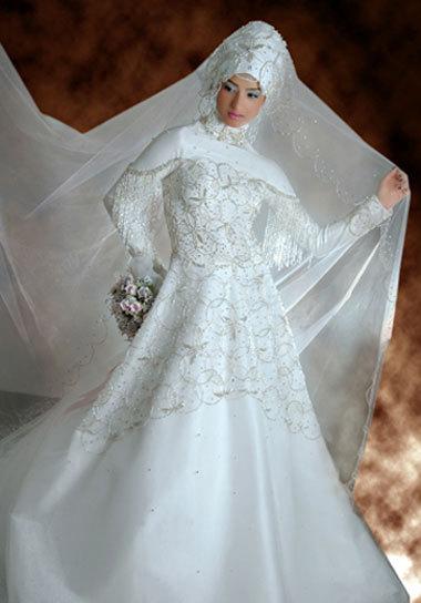 فساتين زفاف تركية حلوة بزاف -فساتين زفاف للمحجبات السمينات 2014