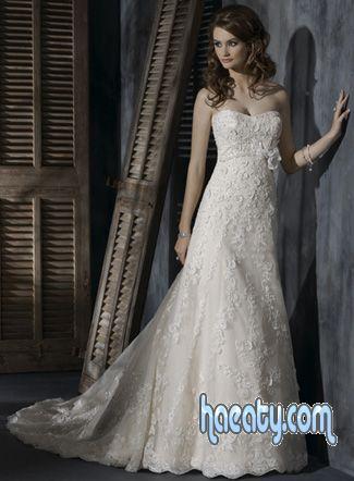 فساتين زفاف موضة 2014 ، فساتين افراح شياكة ، Beautiful bride dresses