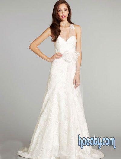 تشكيلة فساتين زفاف روعة 2014 , صور فساتين اعراس تاخد العقل 2014 , Wedding Dresses