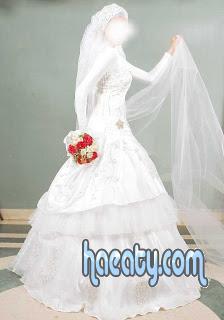 فساتين زفاف لاحلي محجبة 2014 , صور فساتين زفاف خفق 2014 , Paper Wedding Dresses