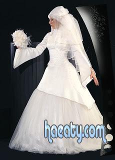 فساتين زفاف شيك للمحجبات 2014 , صور فساتين اعراس فاشون 2014 , Wedding Dresses