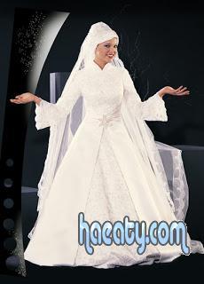 أشيك فساتين زفاف للمحجبات 2014 , صور اجمل فساتين زفاف للمحجبات 2014 , Wedding Dresses