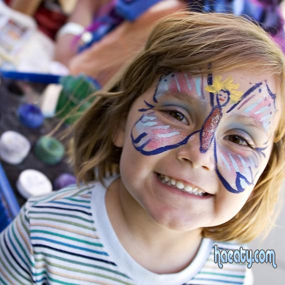 اطفال جميلة 2014, اطفال مرسوم على وجههم بالالوان 2014,Children painted on their faces