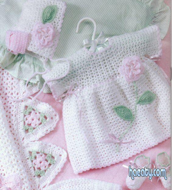 ملابس اطفال حديثى الولادة كروشية