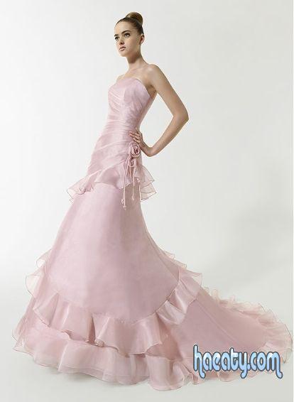 فساتين زفاف ملونة بالصور شيك جدا