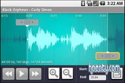 تحميل برنامج تقطيع النغمات للاندرويد – Download Ringdroid Free For Android2014