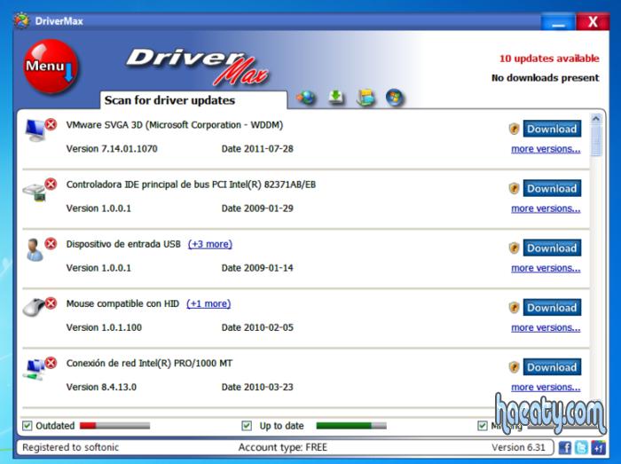 تحميل برنامج DriverMax لتحديث تعريفات الويندوز