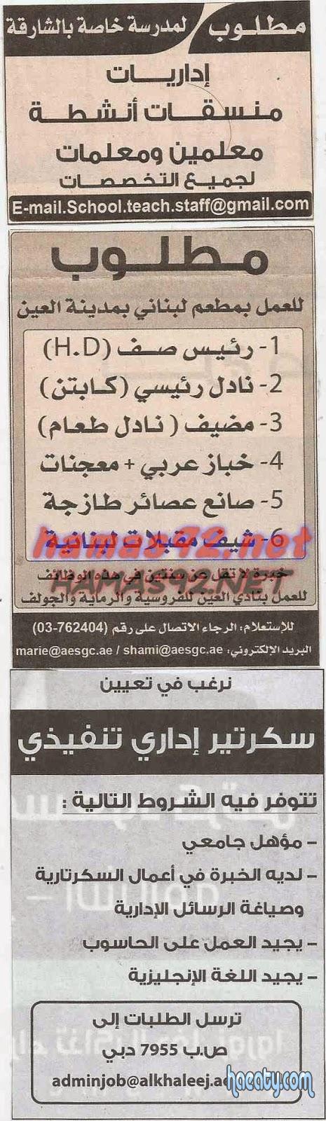 وظائف جريدة الاهرام اليوم الخميس 20/11/2014