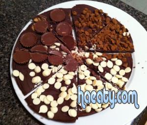 طريقة عمل بيتزا الشوكولاته