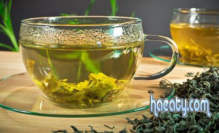 الشاي الاخضر  وانواعه وفوائده للتنحيف