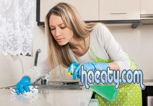 تعلمي معانا طريقة تنظيف خشب المطبخ من الدهون